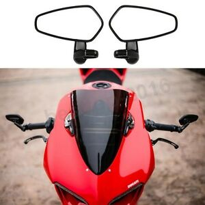For-Ducati-Panigale-1199-Specific-Model-Black-Bar-End-Mirrors-Easy-Installation