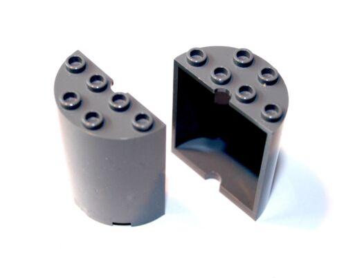 2x LEGO® Paneel Halbzylinder Säule 2x4x4 6259 NEU Dunkelgrau Panel