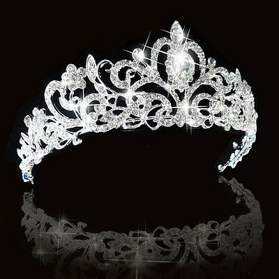 Grace Wedding Bridal Princess Austrian Crystal Hair Accessory Tiara Crown Silver