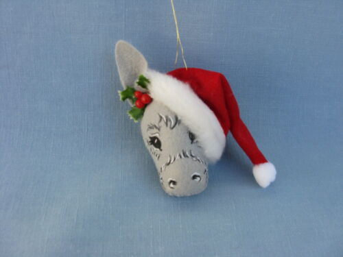 """980803 SUE COFFEE EXCLUSIVE NEW ANNALEE 4/"""" CHRISTMAS DONKEY ORNAMENT"""