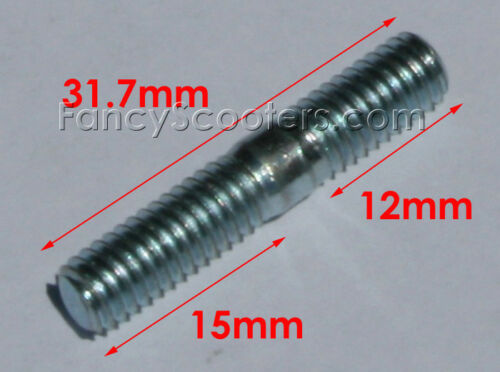 GY6 50CC-150CC Muffler Screw Set 6mm Exhaust Bolts Nuts Scooter Moped ATV