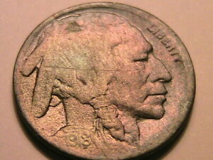 1918-S-Buffalo-Nickel-5C-VG-Very-Good-Nice-Toned-Clear-Date-USA-Five-Cent-Coin