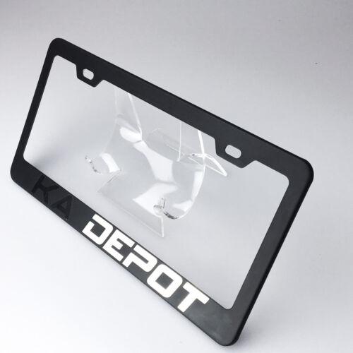 Laser Engraved Customize Suv License Plate Fram Tag Holder Bracket Matte Black