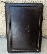Day Runner Compact Brown Faux Leather With Semi Secret Front Compartment 6 X 8 13