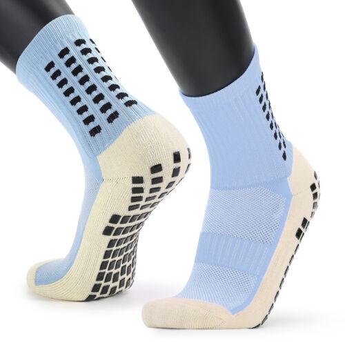 Men/'s Anti Slip Football Socks Athletic Long Socks Absorbent Sports Grip UK U7H9