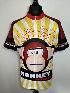 Scudo Pro Monkey Banana Multicoloured Cycling Shirt Jersey Short Sleeve 2XL RARE