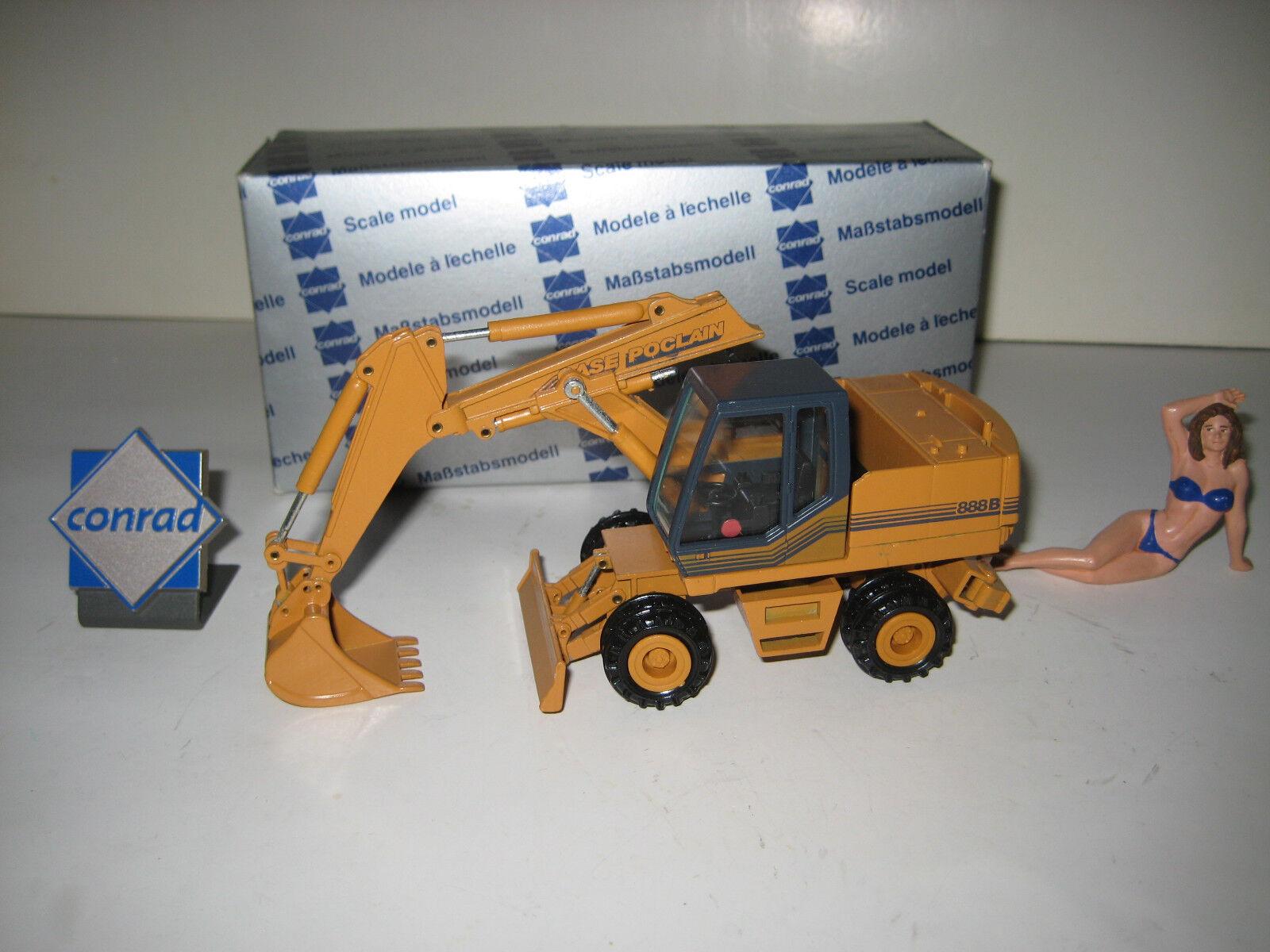 CASE POCLAIN 888 B Excavateurs tieflöffel mobile  2893.4 CONRAD 1 50 NEUF dans sa boîte RARE