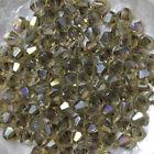 "25 Perles Cristal -TOUPIES SWAROVSKI - LIGHT COLORADO TOPAZ ""AB"" 246 - 4 mm"