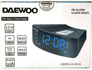 Details about Daewoo DI-2618 Alarm Clock Radio 220v 220 Volt Export  Overseas Use Only