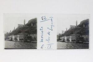 Suisse Morcote Lugano Foto Stereo T2L9n25 Placca Da Lente Vintage