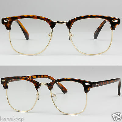 Clubmaster Clear Lens Glasses Fashion Fancy Dress Prescription Frames