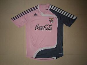on sale f1091 155b9 Details about Benfica pink Adidas Formotion shirt jersey Coca Cola as match  worn by under19