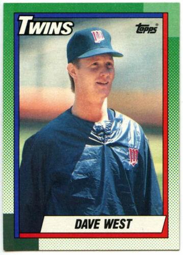 C246 Dave west twins #357 topps 1990 carte de baseball