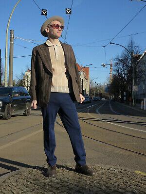 Obbiettivo Pantaloni Sportivi Pantaloni Allenamento 44 Blu Scuro 70er Truevintage 70s Sport Pants Dark Blue-mostra Il Titolo Originale