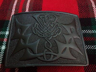 KiltGürtelschnalle mit keltischem Knotenmuster