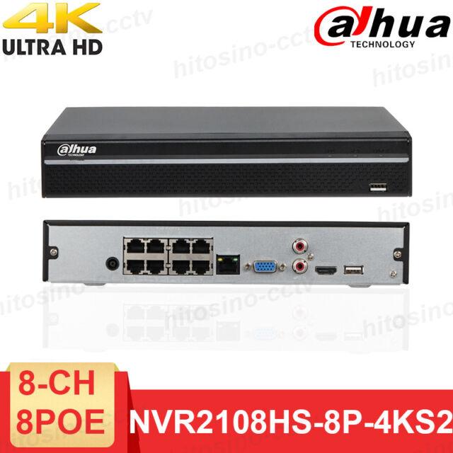 Dahua 4C//8CH 6MP P2P H.264 POE Port CCTV NVR Network Video Recorder English