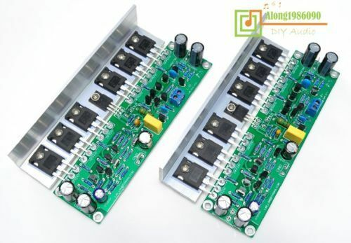 Assembled L15 stereo MOSFET power amplifier board with Angle aluminum