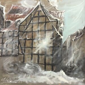 Expressive-Snowstorm-TOWN-VIEW-61-x-61-CM-Hermann-feltendal