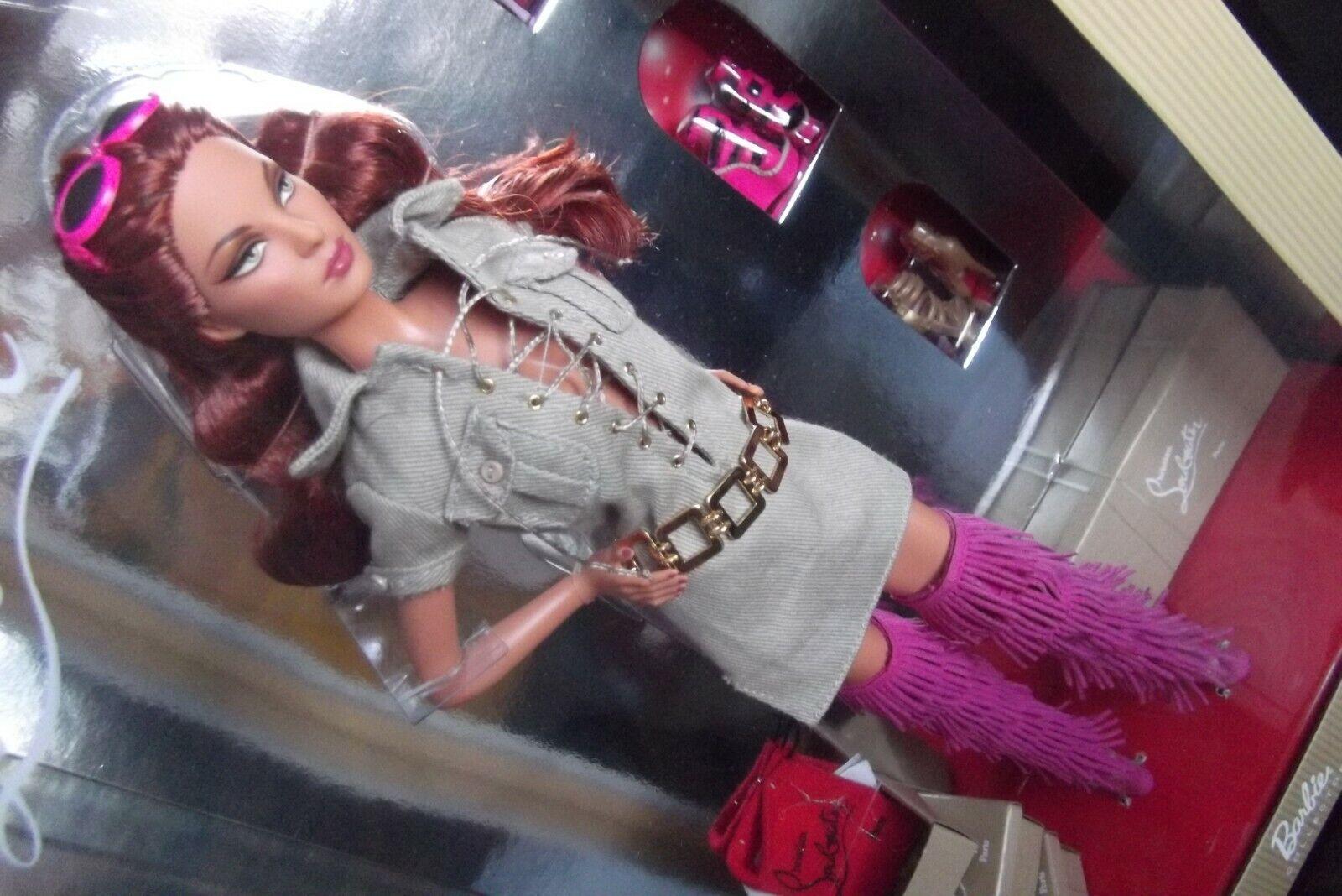 Christian Louboutin Dolly para siempre Caqui Safari Vestido Muñeca Barbie Y Zapatos botas