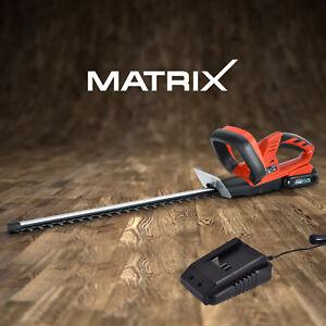 Matrix Cordless Hedge Trimmer 20V Shrub Garden Tool w/ 1.5Ah Battery Charger