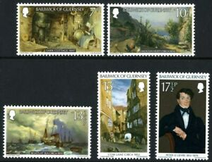 GUERNSEY-1980-PAINTINGS-SET-OF-ALL-5-COMMEMORATIVE-STAMPS-MNH-H