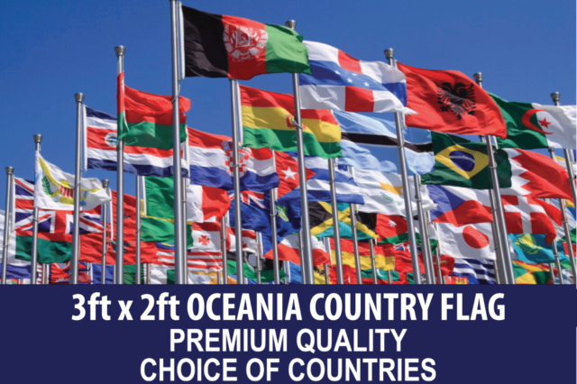 OCEANIA COUNTRY FLAG 3ft x 2ft Premium Quality - CHOOSE YOUR DESIGN