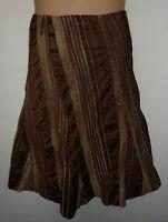 MARKS & SPENCER silky striped skirt UK 18 US 16 elastic waist