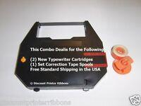 Combo Deal Nakajima Ae-740s Typewriter Ribbons + Correction Spool Free Shipping