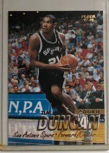 Details About 1998 Fleer Tim Duncan Rookie Card San Antonio Spurs 201