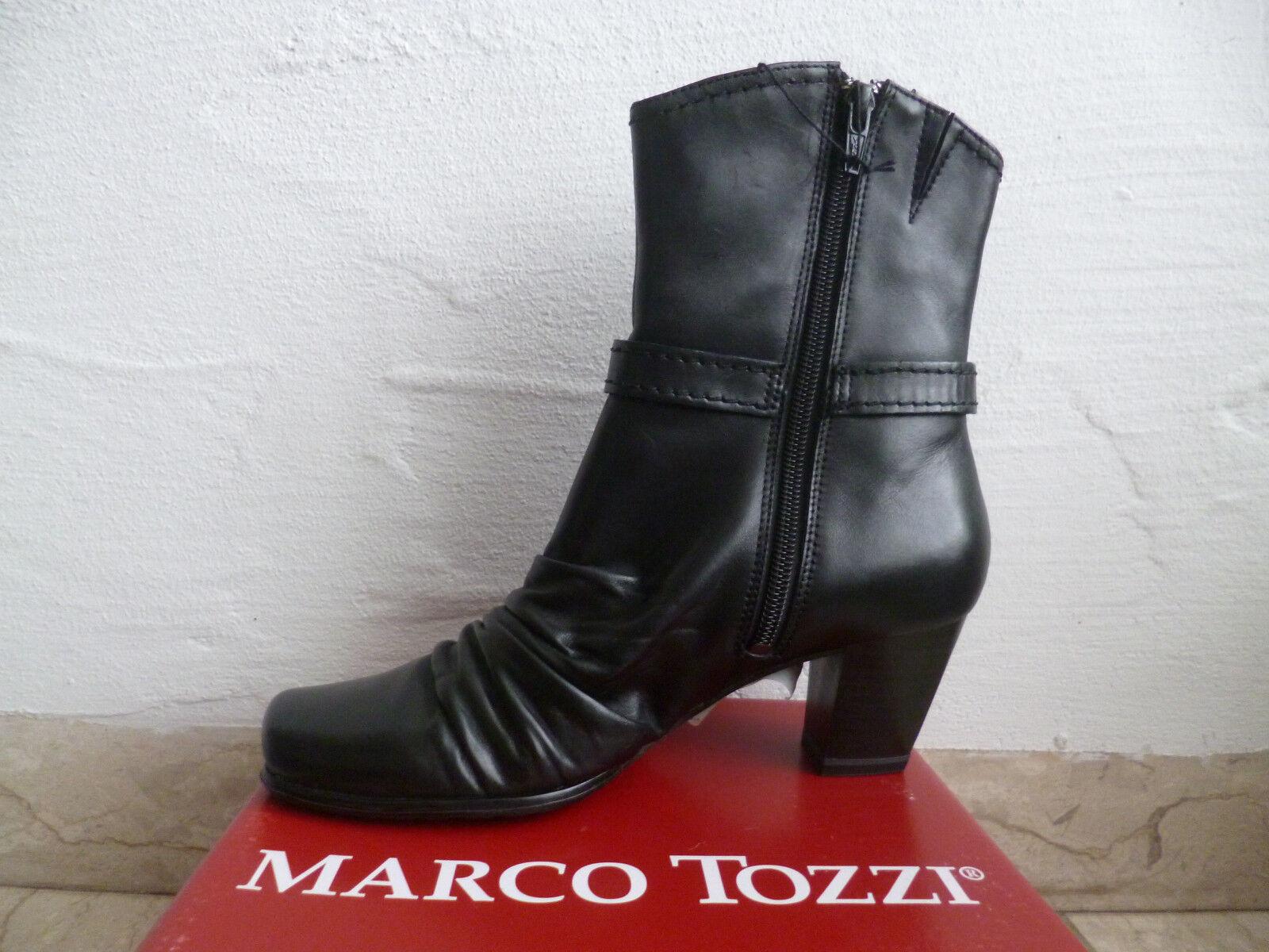 Marco Tozzi Damen   Stiefeletten Stiefelette schwarz Echtleder   NEU b7fc23