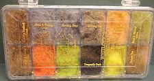 Whitlock´s Dubbing Blends #1 Dispenser 12 Farben SLF Dubbing Blends #1