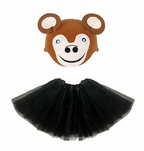 MONKEY-TUTU-COSTUME-Easter-Animal-Party-Accessory-Kids-Girls-Fancy-Dress-New-UK