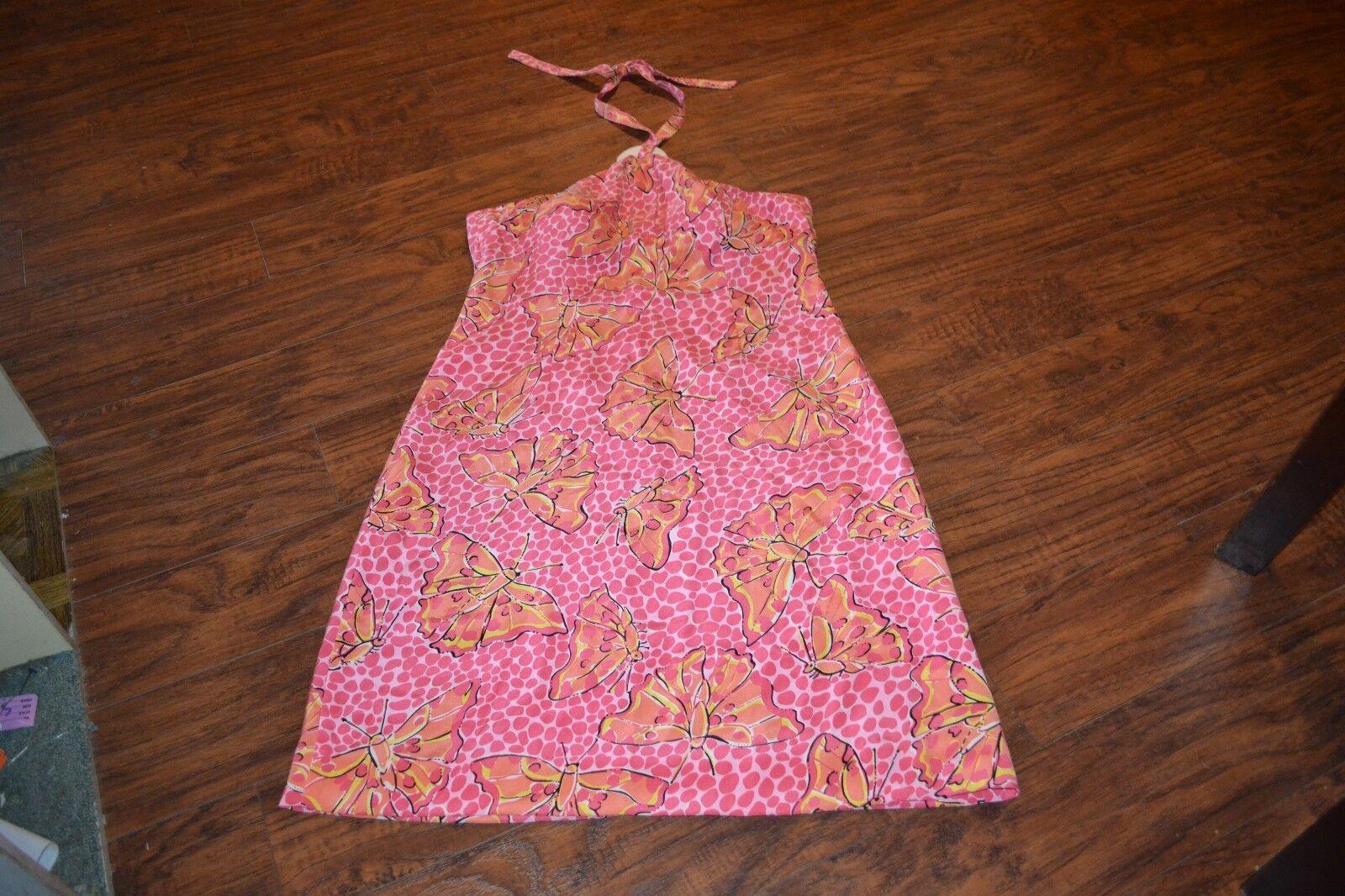 B32- Lilly Pulitzer Silk Spandex Halter Dress Größe 10