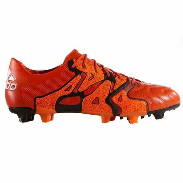 Adidas Performancex15.1 Fgag Leather Scarpe da Calcio Uomo Rosso (rot (solar