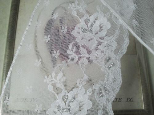 White Silver Lace Trim Five Inch 13cm 130mm Width Please Choose Length