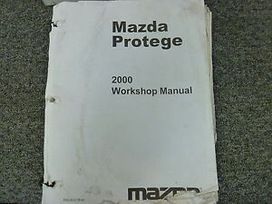 2000 mazda protege sedan shop service repair manual book dx lx es rh ebay com 2000 Mazda Protege Engine Diagram mazda 323 protege 2000 service manual