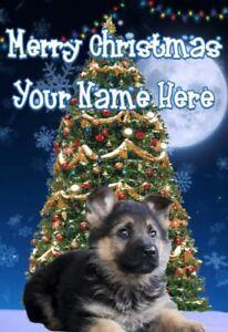 Auguri Buon Natale In Tedesco.Pastore Tedesco Cucciolo Buon Natale Biglietto D Auguri Personalizzato Codetm 156 Ebay
