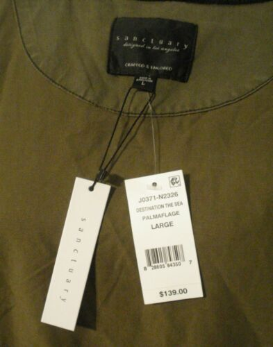 With Jacket Tags New Størrelse Large Olive Green Women's Bomber Sancuary 8OqfCf