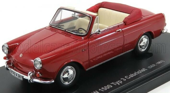 Wonderful resin-modelcar VOLKSWAGEN 1500 TYP 3 CONGrünIBLE 1961 - 1 43 - ltd.ed