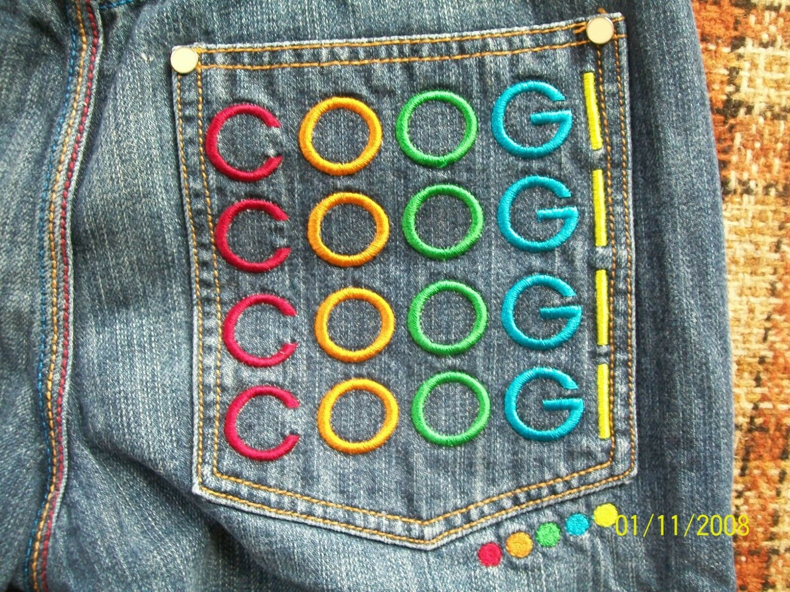 Coogi Womens 16 (Actual 26x29) Loose Fit 100% Cotton Jeans