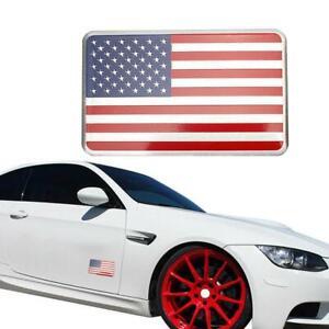 2Pcs-American-Flag-Car-Truck-Metal-Sticker-Decal-Badge-Emblem-Adhesive-Alu-New