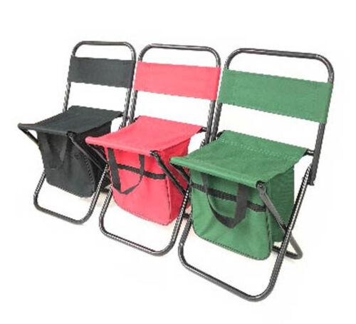 Portable Folding Camping Fishing Chair Stool Travel Backpack Beach-Bag