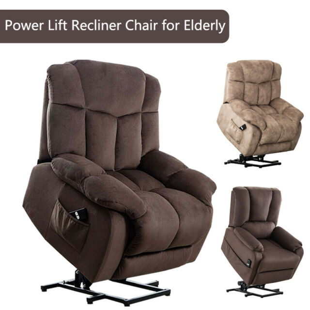 Electric Power LIft Recliner Chair for ❤️Elderly Wide Padded Seat Lounge Sofa RC