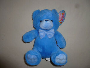 New W Tag Blue Bear W Bowtie Plush Toy Sugar Loaf Toys Nwt Stuffed