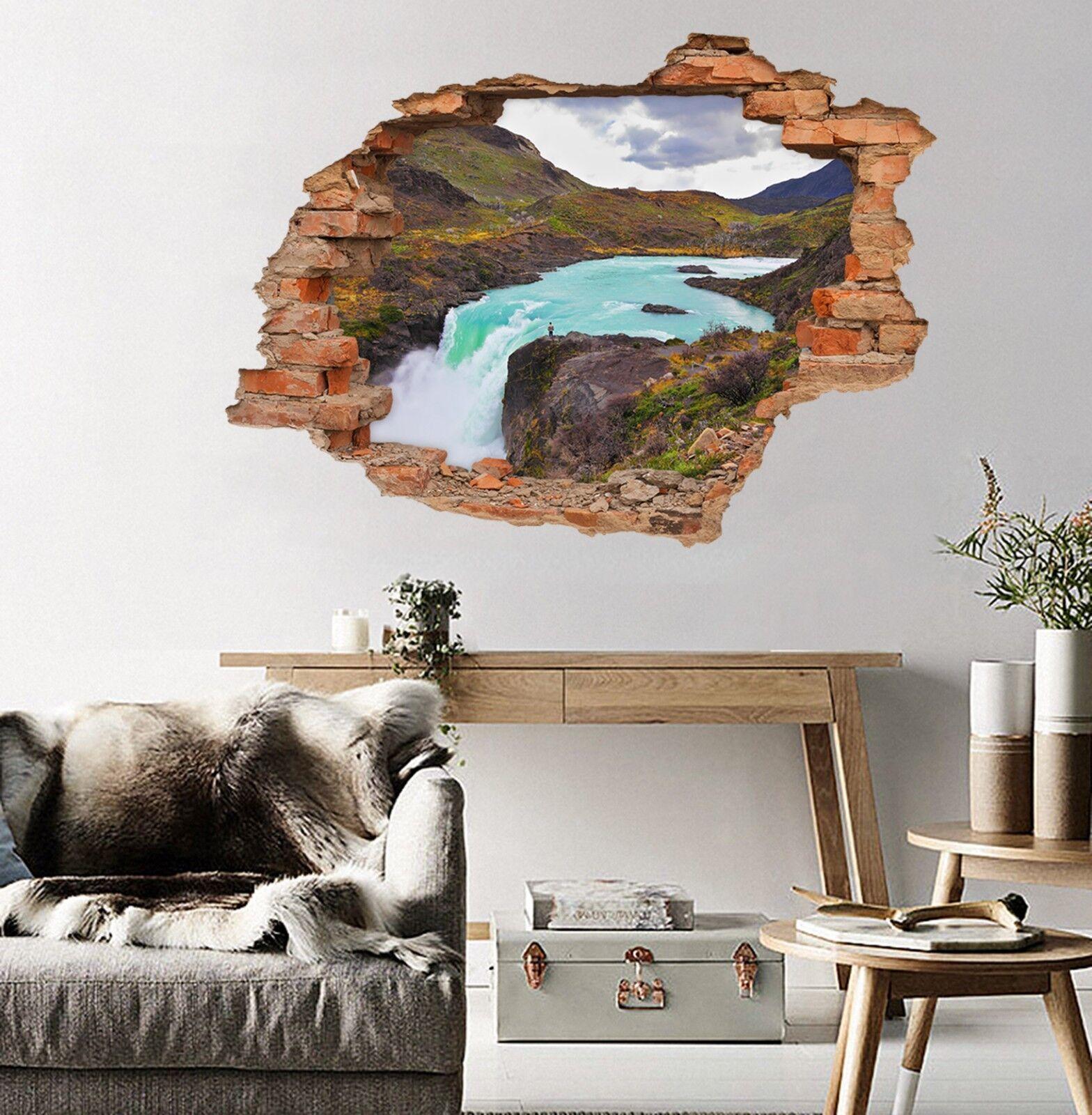 3D Wasserfall 146 Mauer Murals Mauer Aufklebe Decal Durchbruch AJ WALLPAPER DE