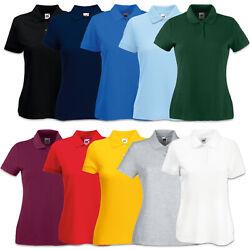 Fruit of the Loom Damen Poloshirt 65/35 Polo Shirt Pique T-Shirt XS S M L XL XXL