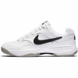 923db795a94c3 Nike Mens Court Lite Tennis Shoes White Black Medium Grey 845021-100 ...