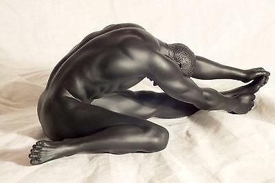 akt,mann,schwarz,22x10cm,figur,,erotik,männerakt,Nude Men,act,men