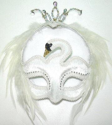 #venetian White Swan Eye Mask Masquerade Sfera Opera Fancy Dress Outfit Accessorio-mostra Il Titolo Originale Prezzo Moderato