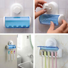Home Bathroom Wall Mount 5 Toothbrush Spin Brush Suction